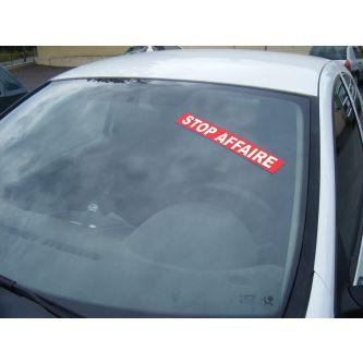 Autocollant Pare Brise Stop Affaire