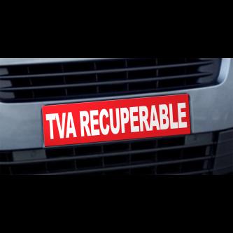 Cache plaque d'immatriculation avantage TVA Récupérable rouge