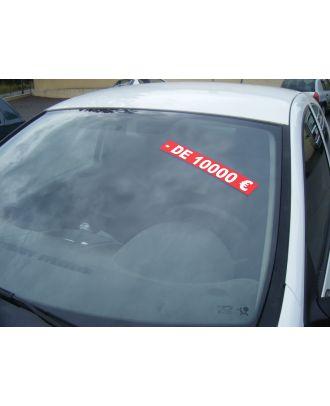 Autocollant Pare Brise Avantage rouge - de 10000 €