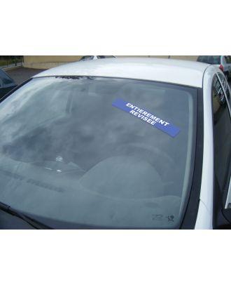 Autocollant pare brise Avantage bleu Entièrement Révisée