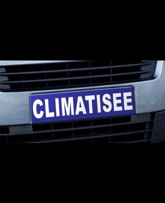 Cache plaque d'immatriculation avantage Climatisée bleu