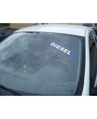 Autocollant pare brise Avantage bleu Diesel