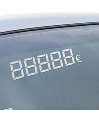 Chiffres Digitaux Adhésifs Blancs euros