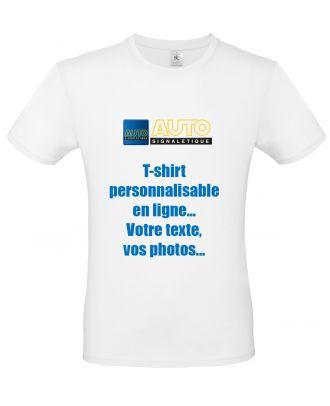 T-shirt B&C EXACT 150 blanc personnalisable