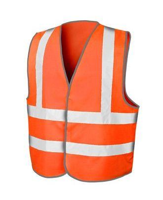 Gilet de sécurité fluo orange à personnaliser coté coeur