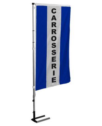 Kit mat et drapeau Carrosserie bleu à bandes latérales 4 m