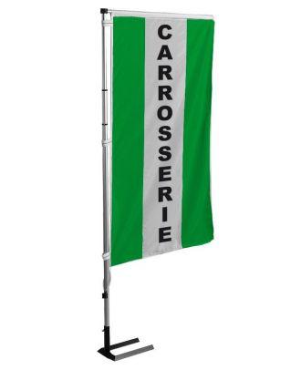 Kit mat et drapeau carrosserie Vert à bandes latérales 4 m