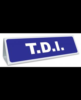 Triangle magnétique de toit TDI de coloris bleu